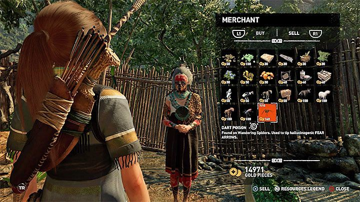 The easiest way of getting rich in the game is selling crafting items - How to get gold and what to spend it on in Shadow of the Tomb Raider? - FAQ - Shadow of the Tomb Raider Game Guide