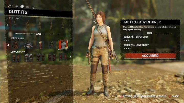 How to get - You start the game in this outfit - All Laras outfits in Shadow of the Tomb Raider - Equipment - Shadow of the Tomb Raider Game Guide