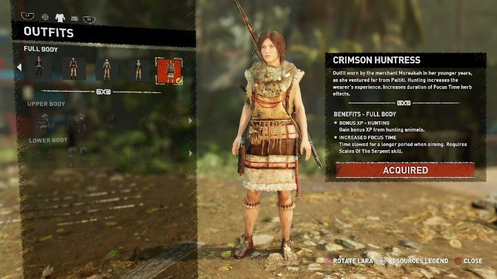 How to get - Can be purchased from Moraekah - costs 7200 - All Laras outfits in Shadow of the Tomb Raider - Equipment - Shadow of the Tomb Raider Game Guide