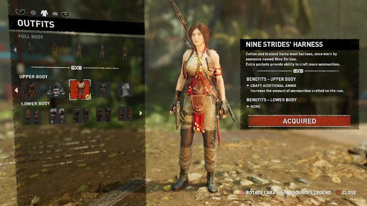 How to get - Purchase the item from a Merchant - All Laras outfits in Shadow of the Tomb Raider - Equipment - Shadow of the Tomb Raider Game Guide