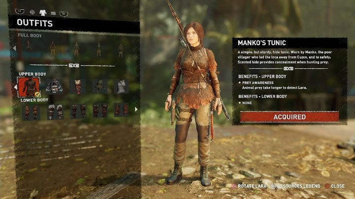How to get - Finish a side mission - Hearts and Mines - All Laras outfits in Shadow of the Tomb Raider - Equipment - Shadow of the Tomb Raider Game Guide