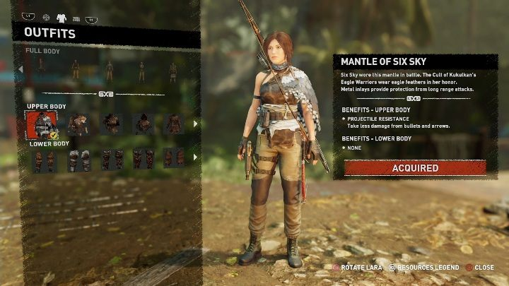 How to get - Available to purchase from a Merchant - All Laras outfits in Shadow of the Tomb Raider - Equipment - Shadow of the Tomb Raider Game Guide