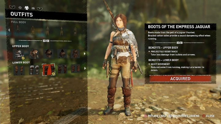 How to get - - All Laras outfits in Shadow of the Tomb Raider - Equipment - Shadow of the Tomb Raider Game Guide