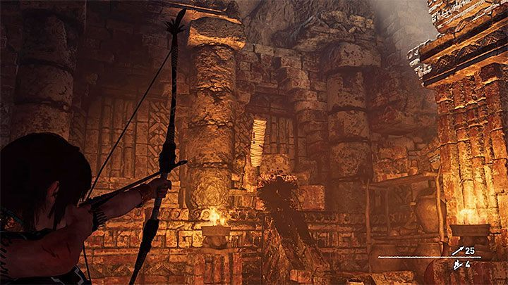 Start with locating the lever with ropes located left from the barricade (the picture above) - Exploration of the Belly and Head of the Serpent - The Hidden City - The Hidden City - Shadow of the Tomb Raider Game Guide