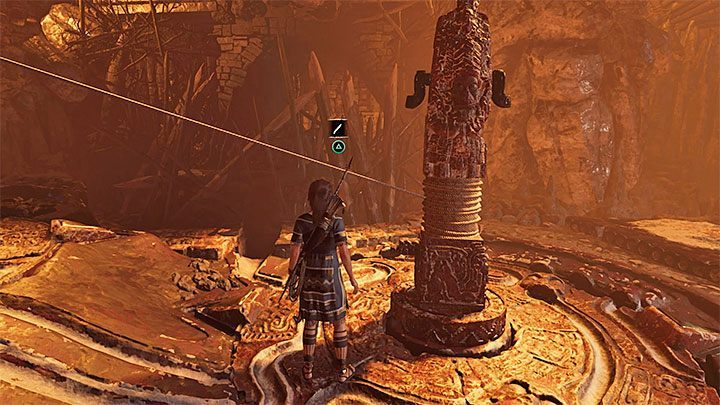 The next step is to change the alignment of the grooves around the taller pillar - this means that you have to disconnect the pillars - Exploration of the Belly and Head of the Serpent - The Hidden City - The Hidden City - Shadow of the Tomb Raider Game Guide