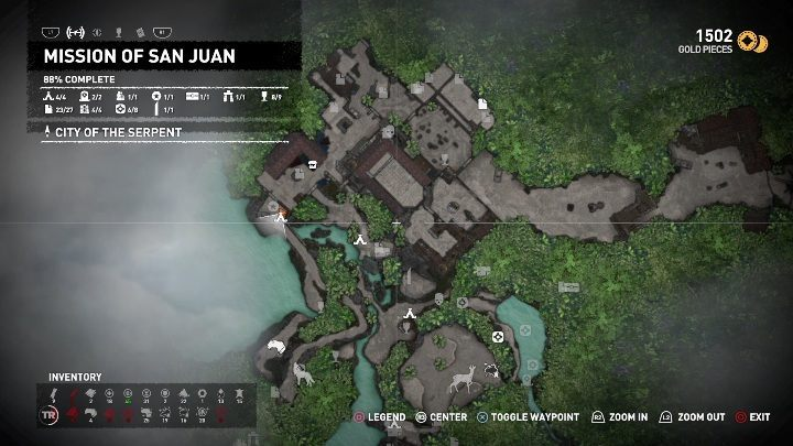 To start the Raise the flags challenge, you must hang the first flag - Challenge | Secrects in Shadow of the Tomb Raider - Mission of San Juan - Shadow of the Tomb Raider Game Guide