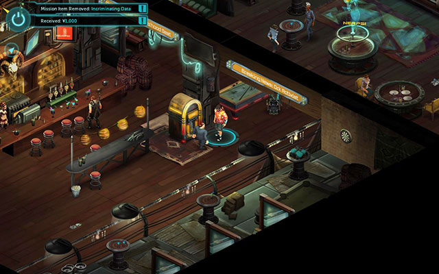 Van Graas is trying to crack the jukebox - Looking for Trouble - Walkthrough - Shadowrun Returns - Game Guide and Walkthrough