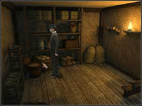 Go to the other side of the basement, and take a clothes line - Imperial Club, 9th November 1888 - Walkthrough - Sherlock Holmes vs. Jack the Ripper - Game Guide and Walkthrough