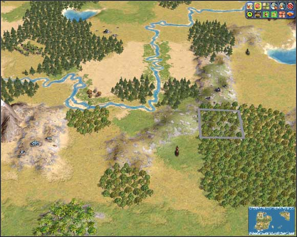 Plains, hills, forest. Ideal placement for future industrial centre - City specialisation and surrounding terrain - The economy - Sid Meiers Civilization IV - Game Guide and Walkthrough