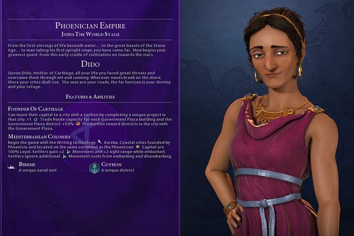Phoenicia (GS) | Nations in Civilization VI Gathering Storm