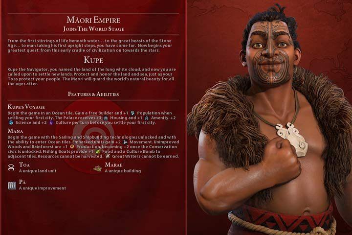 Maori (GS) | Nations in Civilization VI Gathering Storm - Sid