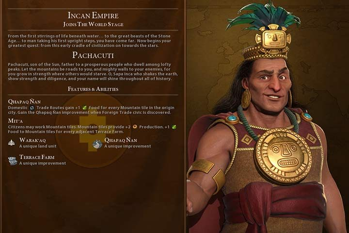 Inca | Nations in Sid Meier's Civilization VI - Sid Meier's