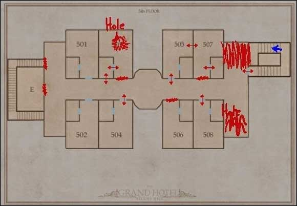 Grand Hotel - 5th Floor - Silent Hill - Grand Hotel 5th floor - Silent Hill - Silent Hill: Homecoming - Game Guide and Walkthrough