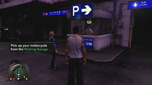 Go to the Parking Garage and pick up your motorcycle - Amanda - Walkthrough - Sleeping Dogs - Game Guide and Walkthrough