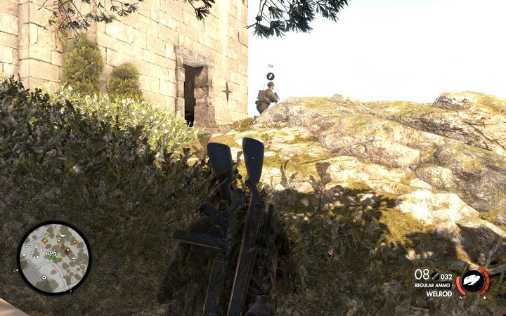 You can sneak up to your opponents by hiding in bushes or behind objects - Sneaking and silent kills | Tips - Tips - Sniper Elite 4 Game Guide