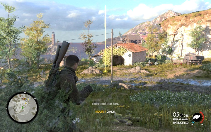 Use rocks like grenades - aim to see where they will land - Sneaking and silent kills | Tips - Tips - Sniper Elite 4 Game Guide