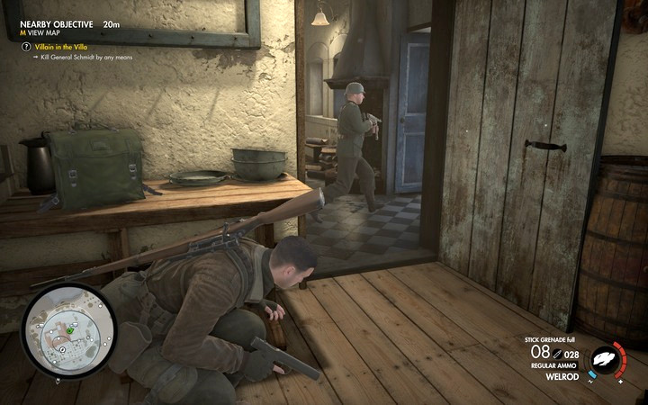 You can hide bodies in the pantry - Schmidts assassination | Mission 1: San Celini Island - Mission 1: San Celini Island - Sniper Elite 4 Game Guide