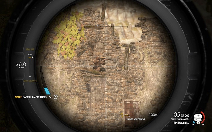The hill is your optimal position to eliminate the sniper - Obtaining the sniper reports | Mission 2: Bitanti Village - Mission 2: Bitanti Village - Sniper Elite 4 Game Guide