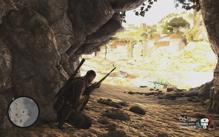 Now, you need to retrieve the report from the fallen body (M2 - Obtaining the sniper reports | Mission 2: Bitanti Village - Mission 2: Bitanti Village - Sniper Elite 4 Game Guide