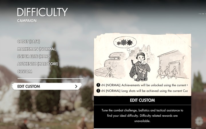 The game offers 4 default difficulty levels - Sniper Elite 4 difficulty levels - Tips - Sniper Elite 4 Game Guide