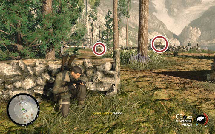To clear the checkpoint, it is better to use sniper rifle, or a machinegun - Clearing checkpoints | Mission 3: Regilino Viaduct - Mission 3: Regilino Viaduct - Sniper Elite 4 Game Guide