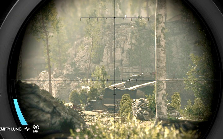 The alternative way is cross the mine field (M3,1) across the middle of the map - Finding the cache and the ammo truck | Mission 3: Regilino Viaduct - Mission 3: Regilino Viaduct - Sniper Elite 4 Game Guide