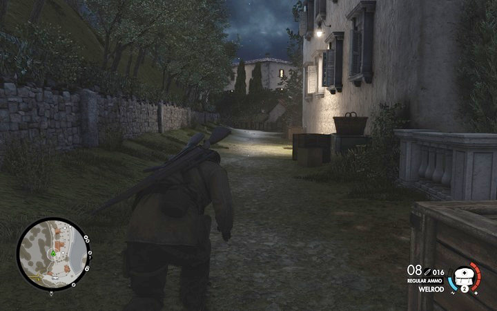 Sneak past the enemies behind their backs and you will get to the isle without raising the alarm - Kill Rothbauer | Mission 7: Giovi Fiorini Mansion - Mission 7: Giovi Fiorini Mansion - Sniper Elite 4 Game Guide