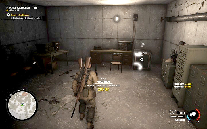 You will open the safe using the combination that you have found on Rothbauer - 1st and 2nd cannon, Rothbauers safe | Mission 7: Giovi Fiorini Mansion - Mission 7: Giovi Fiorini Mansion - Sniper Elite 4 Game Guide