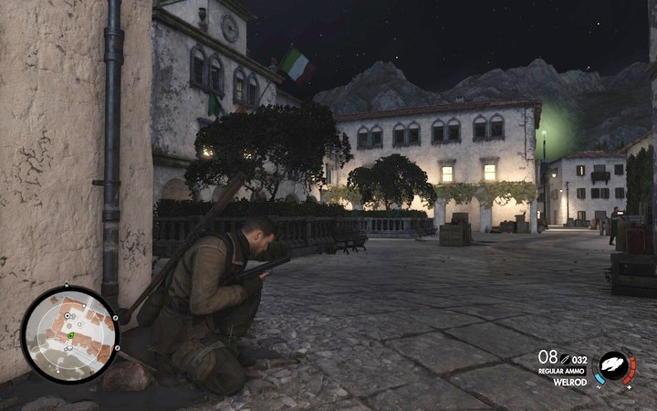 You can enter the building that the sniper is in and eliminate him in melee - Kill the sniper | Mission 7: Giovi Fiorini Mansion - Mission 7: Giovi Fiorini Mansion - Sniper Elite 4 Game Guide