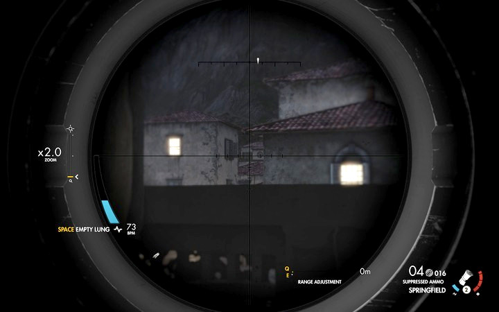 The sniper appears occasionally by the clock on the balcony - Kill the sniper | Mission 7: Giovi Fiorini Mansion - Mission 7: Giovi Fiorini Mansion - Sniper Elite 4 Game Guide
