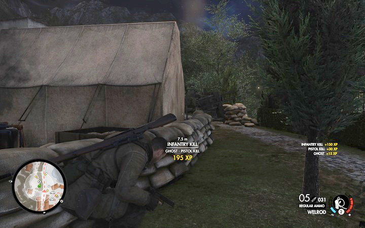 Blow up the last cannon. You can do that without being seen - Propaganda truck, 3rd cannon | Mission 7: Giovi Fiorini Mansion - Mission 7: Giovi Fiorini Mansion - Sniper Elite 4 Game Guide