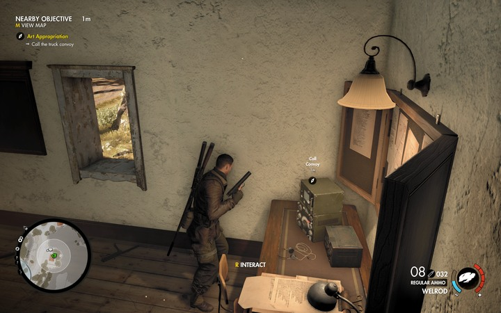 The working radio station can be found on the floor - The first cannon and radio station | Mission 5: Abrunza Monastery - Mission 5: Abrunza Monastery - Sniper Elite 4 Game Guide