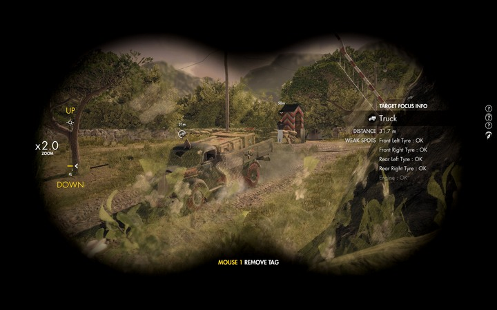 Tag convoy vehicles until Karl says that everything is all right and you can continue - The first cannon and radio station | Mission 5: Abrunza Monastery - Mission 5: Abrunza Monastery - Sniper Elite 4 Game Guide