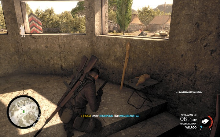 Panzerfaust in the bunker - The second document and Panzerfaust | Mission 5: Abrunza Monastery - Mission 5: Abrunza Monastery - Sniper Elite 4 Game Guide