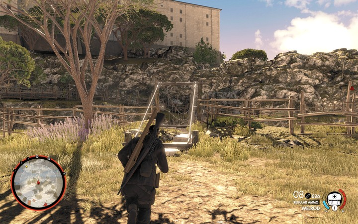 Cross the bridge to get to the monastery - The second cannon and the bell | Mission 5: Abrunza Monastery - Mission 5: Abrunza Monastery - Sniper Elite 4 Game Guide