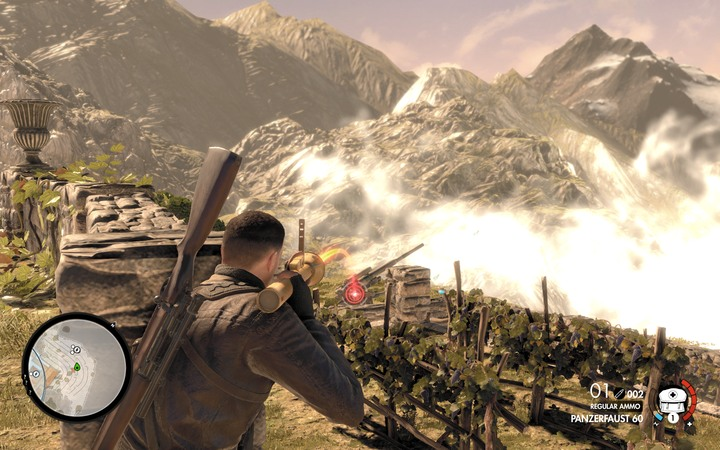 One of the options is to use the Panzerfaust - but this option is not that good - The second cannon and the bell | Mission 5: Abrunza Monastery - Mission 5: Abrunza Monastery - Sniper Elite 4 Game Guide