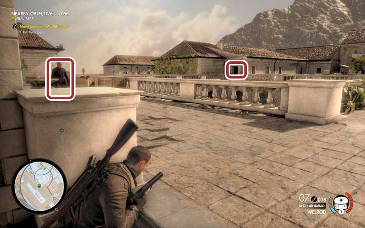 Go to the monasterys yard - Capo and the last two documents | Mission 5: Abrunza Monastery - Mission 5: Abrunza Monastery - Sniper Elite 4 Game Guide