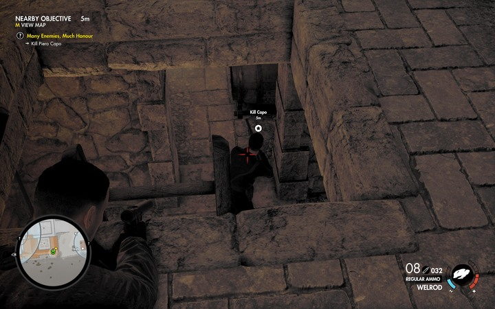 Sometimes, Capo can hide in the basement - Capo and the last two documents | Mission 5: Abrunza Monastery - Mission 5: Abrunza Monastery - Sniper Elite 4 Game Guide