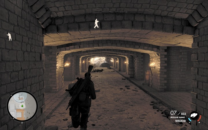 The catacombs leads to the cave - there, you will find the last document - Capo and the last two documents | Mission 5: Abrunza Monastery - Mission 5: Abrunza Monastery - Sniper Elite 4 Game Guide