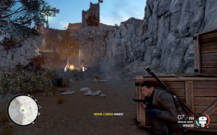 Go along the coast (M6,6) and head west to the starting point - The second, third and fourth coastal cannon | Mission 6: Magazzeno Facility - Mission 6: Magazzeno Facility - Sniper Elite 4 Game Guide