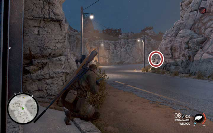 The cannon rotates after a few seconds - you have enough time to get to the door before you are detected - The second document, the antenna and the fifth cannon | Mission 6: Magazzeno Facility - Mission 6: Magazzeno Facility - Sniper Elite 4 Game Guide