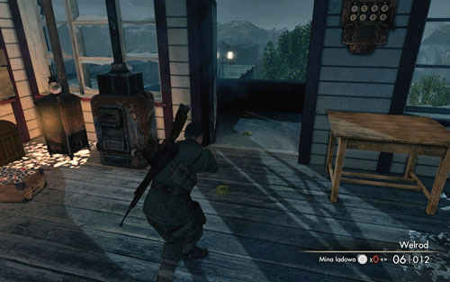Head upstairs - before attacking, you should place some charges and mines by the doors on both sides - Mission 9 - Koepenick Launch Site - Walkthrough - Sniper Elite V2 - Game Guide and Walkthrough