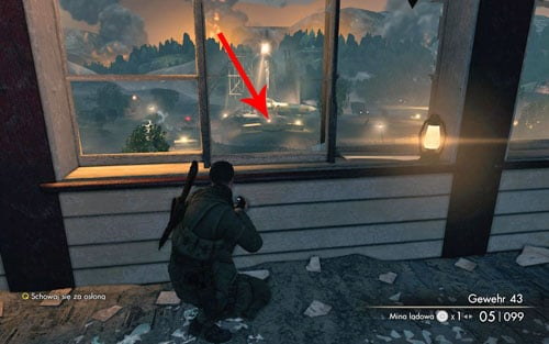 One of the equally important places on the map is the sniper post directly across - sometimes you might be able to spot an enemy heading that way and you shouldn't let him reach it - Mission 9 - Koepenick Launch Site - Walkthrough - Sniper Elite V2 - Game Guide and Walkthrough