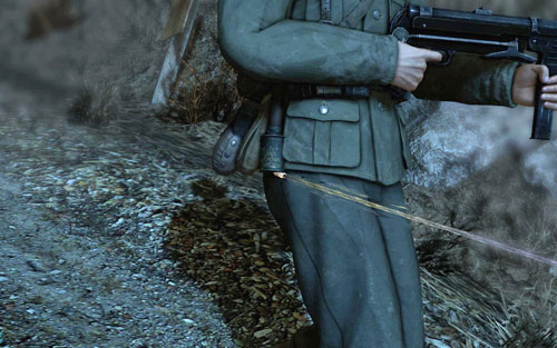 Move further along the path - in the distance you will note a patrol - DLC - Assassinate the Fuhrer - Walkthrough - Sniper Elite V2 Game Guide & Walkthrough