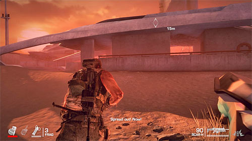Do not waste too much time for replenishing your supplies (two crates on the left) - Chapter XIII - Adams - p. 2 - Game Walkthrough - Spec Ops: The Line - Game Guide and Walkthrough
