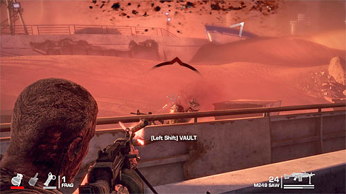 Later on, during the battle, focus on keeping an eye on your left flank, not letting too many opponents to attack you by surprise - Chapter XIII - Adams - p. 2 - Game Walkthrough - Spec Ops: The Line - Game Guide and Walkthrough