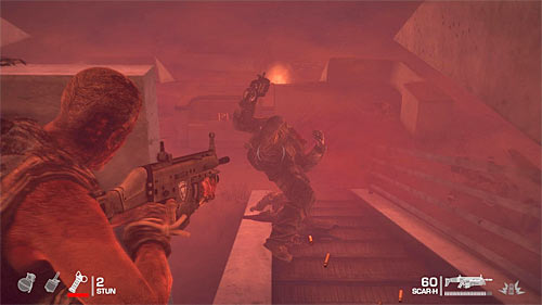 After the sandstorm arrives, ignore distant targets and focus only on guarding stairs leading to the upper deck, not letting any enemy to get there - Chapter XIII - Adams - p. 2 - Game Walkthrough - Spec Ops: The Line - Game Guide and Walkthrough