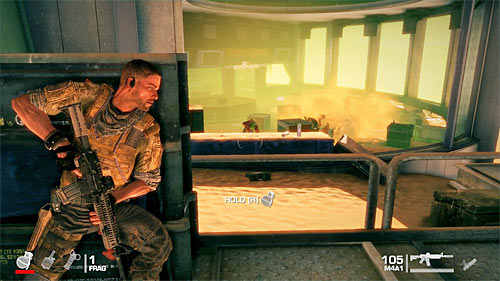 Go towards the room visible in distance and watch out for enemies who will appear inside - Chapter II - The Dune - p. 1 - Game Walkthrough - Spec Ops: The Line - Game Guide and Walkthrough