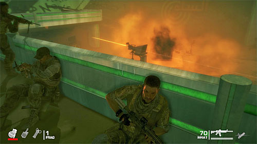 Move towards the green railing - Chapter II - The Dune - p. 1 - Game Walkthrough - Spec Ops: The Line - Game Guide and Walkthrough
