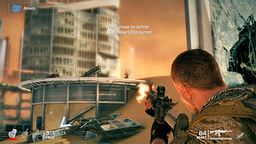 Equally important is to take care of two snipers places on the rooftop of the right building - Chapter II - The Dune - p. 1 - Game Walkthrough - Spec Ops: The Line - Game Guide and Walkthrough